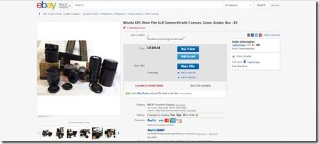 ebay minolta film slr